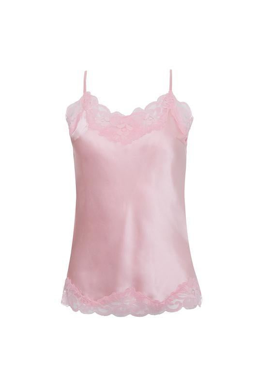 Floral Lace Cami Ballerina Pink