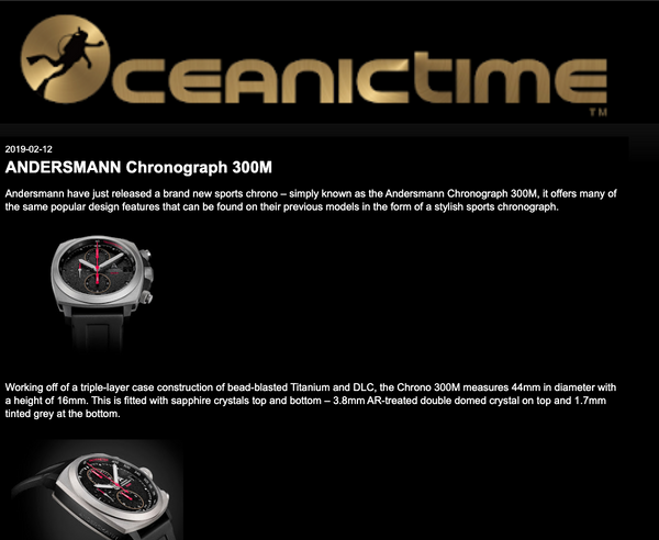 Thank you OceanicTime for reviewing Andersmann Chronograph
