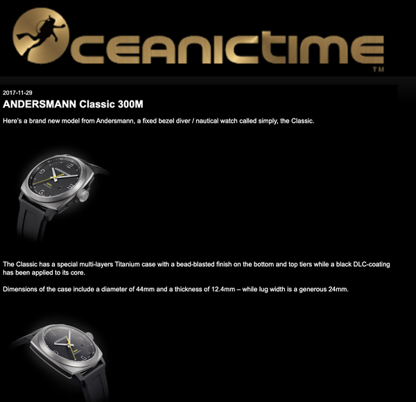 THANK YOU OCEANICTIME FOR REVIEWING CLASSIC 300M