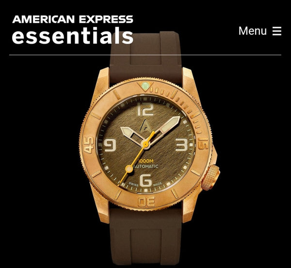 "Thank you Amex Essentials U.S.A. for introducing Andersmann Bronze as ""Top 30 Watches to Collect Under US$5000."""