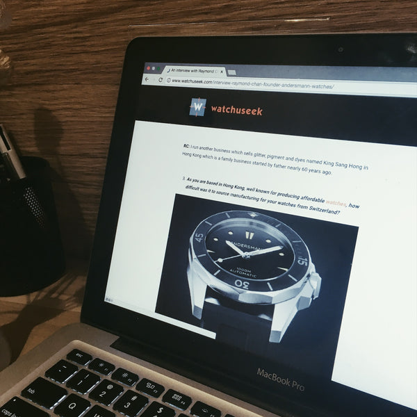 AN INTERVIEW WITH RAYMOND CHAN, FOUNDER, ANDERSMANN WATCHES