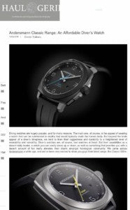 THANK YOU HAULOGERIE FOR REVIEWING ANDERSMANN CLASSIC 300M