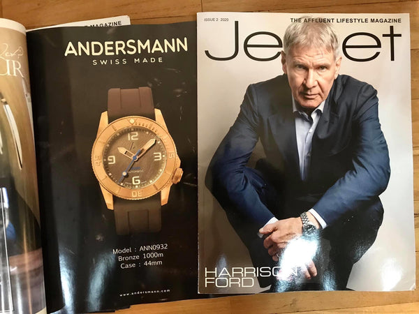 Thank you Jetset Magazine - Issue 2. 2020 introducing Andersmann Bronze 1000m Model: ANN0932