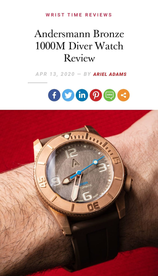 Thank you Mr Ariel Adams of aBlogtoWatch.com for reviewing Andersmann Bronze 1000m