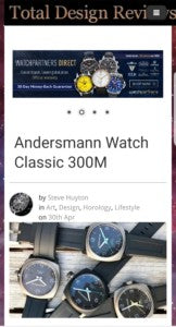 THANK YOU TOTAL DESIGN REVIEWS INTRODUCED ANDERSMANN CLASSIC TITANIUM 300M DIVE WATCH.