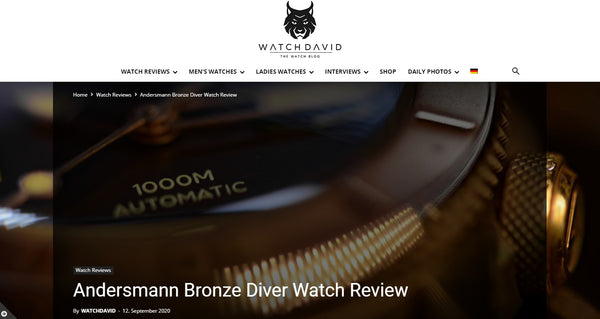 Thank you WatchDavid.com  for reviewing Andersmann Bronze