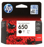 HP 650 Black Original Ink Advantage Cartridge - Winshaye Informatics