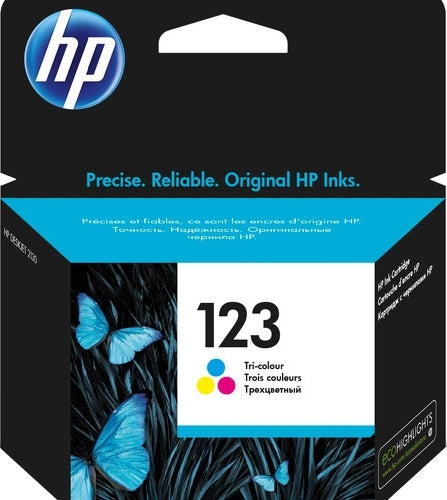 HP 123 Tri-color Original Ink Cartridge - Winshaye Informatics