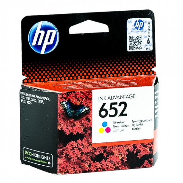 HP 652 Tri-color Original Ink Advantage Cartridge - Winshaye Informatics