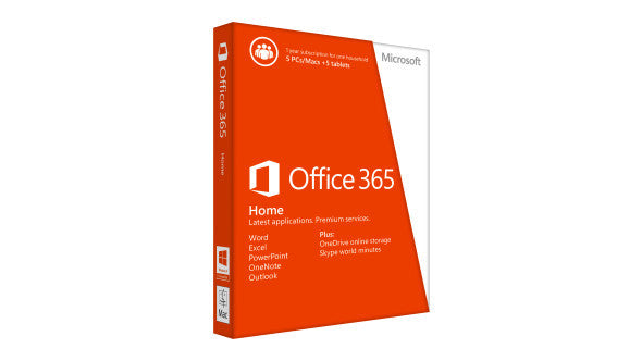 Microsoft Office 365 Home Premium English 1 Year Subscription Medialess