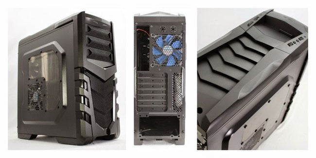 Gamemax 9530-W Black Casing with 2 Blue Fans