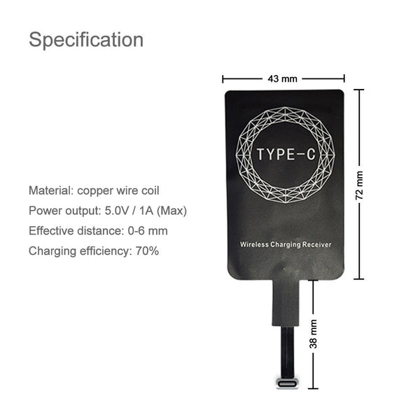 RECEIVER-TYPE C RECEIVER FOR WIRELESS MOBILE CHARGER
