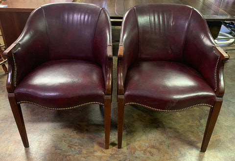 Vintage Southwood Furniture Burgundy Chairs - Lot of 2