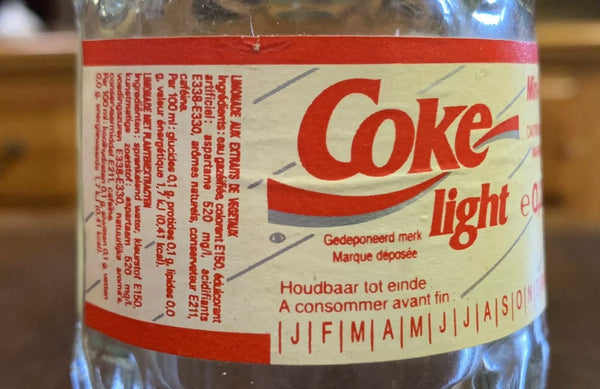 Vintage France Coca Cola / Coke Light Bottle - Win A Travel Car