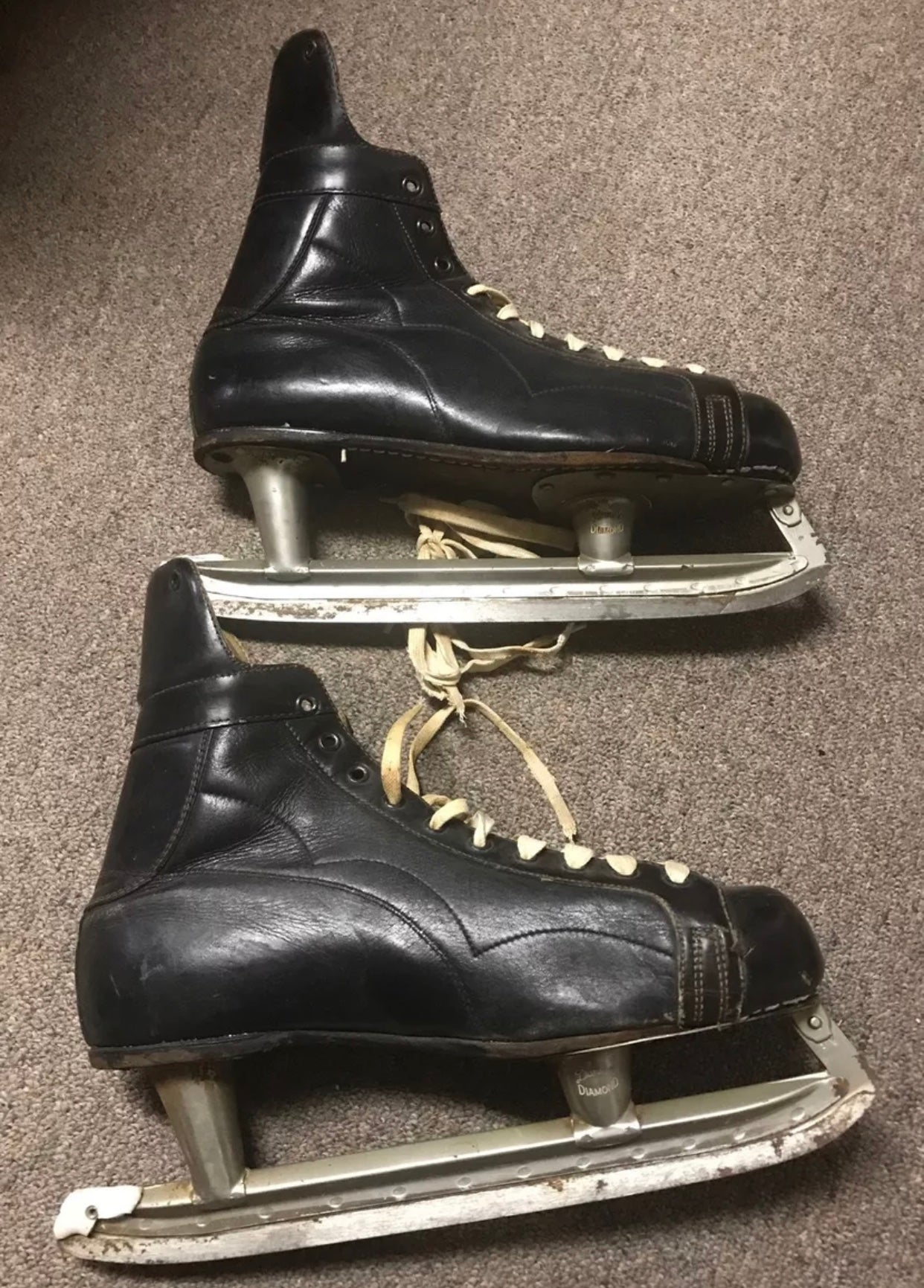 Vintage Ice Skates - Hyde Collegiate - Dunne's Diamond - Men's Size 10