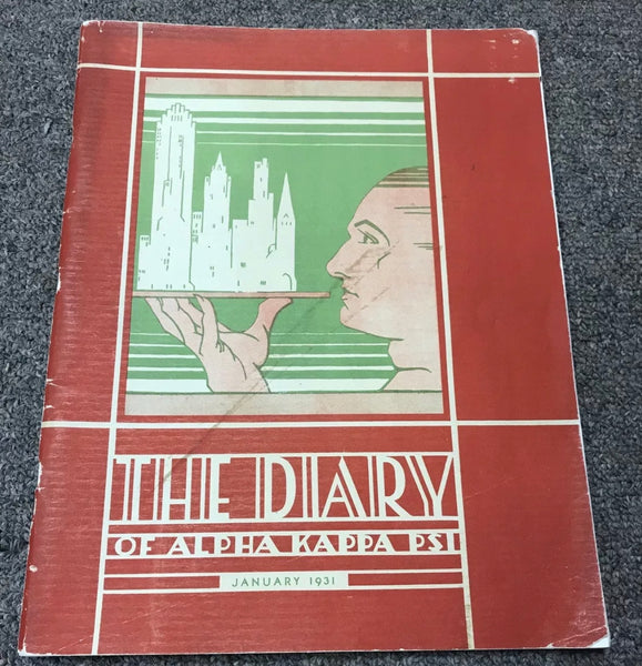 January 1931 The Diary of Alpha Kappa Psi - Vintage Collectible Magazine
