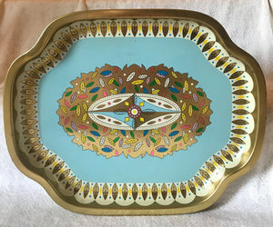 "Vintage Baret Ware Tin Serving Tray ""236 Leaves"" (#1)"