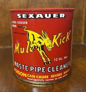 Vintage Mule Kick Waste Pipe Cleaner