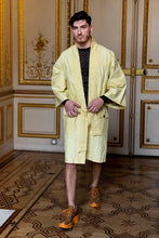 Load image into Gallery viewer, Yellow  Kimono Coat