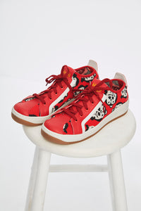Shameless Print Red Sneaker