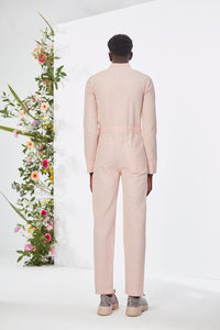 Embroidered Pink  Jumpsuit