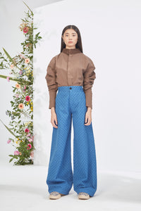 Embroidered Blue  Trouser