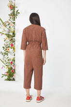 Load image into Gallery viewer, Embroidered Brown  Jumpsuit