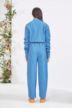 Load image into Gallery viewer, Embroidered Blue  Jumpsuit