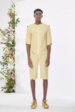 Load image into Gallery viewer, Embroidered Yellow  Jumpsuit