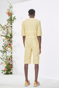 Embroidered Yellow  Jumpsuit