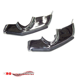 CHEVROLET CHEVY CAMARO     1967 - 1968 FRONT BUMPER OVER RIDERS CHROME PAIR