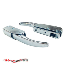 DATSUN NISSAN SUNNY 1200 B110 TAILGATE UTE HANDLE LATCHES PAIR IN SILVER