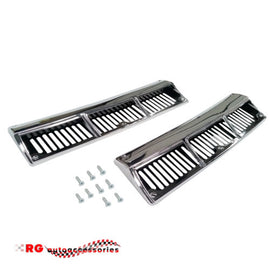 DATSUN NISSAN SUNNY 1200 B110 UTE COUPE AND WAGON CHROME COWL VENTS SOLD AS A PAIR