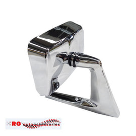 FORD FALCON FAIRLANE XL XM XP COMPACT 500 UNIVERSAL STAINLESS MIRROR DOOR OR GUARD MOUNT LEFT=RIGHT  X1 ONLY
