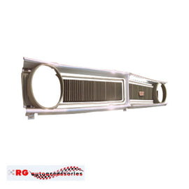 FORD FALCON XY GT GRILL STAINLESS MOULDINGS UPPER AND LOWER 2 PC SET GT 351