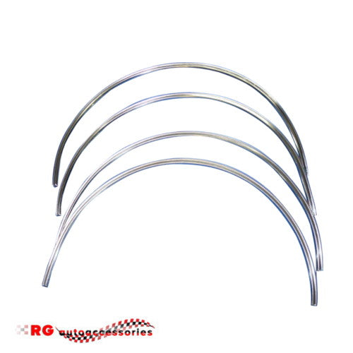 HK MONARO GTS OR PREMIER WHEEL ARCH STAINLESS TRIM MOULDS FRONT AND REAR NEW REPRODUCTIONS