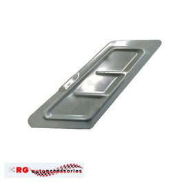 HOLDEN  GEMINI TX - TD - TC SEDAN METAL FUEL FILLER FLAP COMPLETE KIT WITH HINGES X2 AND RUBBER BUMP LOCKS X 4