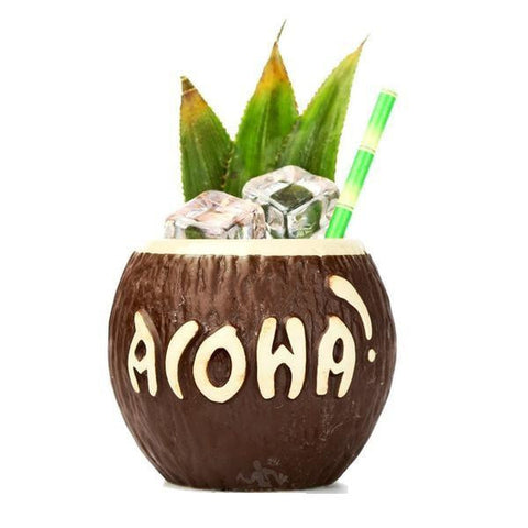 Verre à Cocktail<br>Noix de Coco Aloha - Queue de Coq