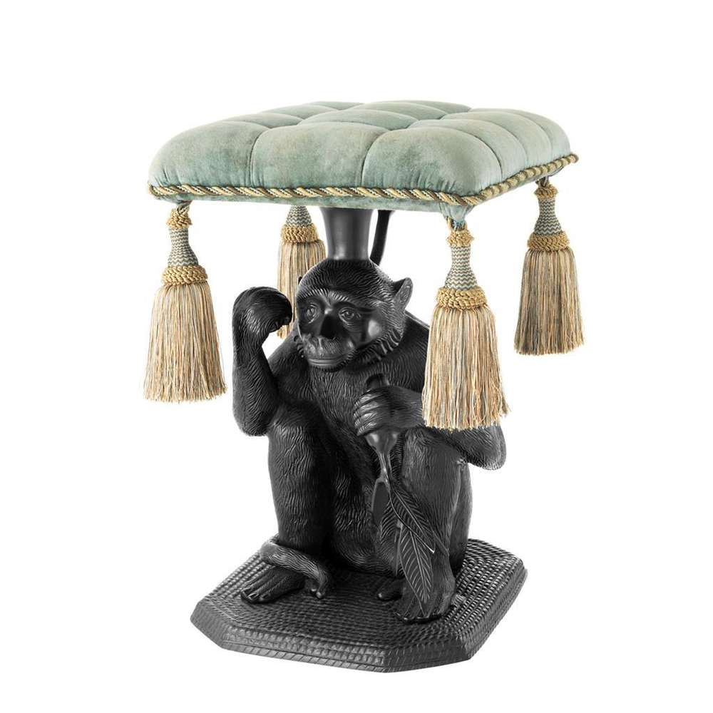 KONRAD INTERIOR SELECTION - STOOL MONKEY BLACK