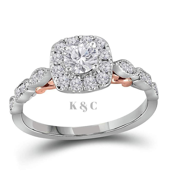 Two-Tone 3/4 CTTW Diamond Engagement Ring