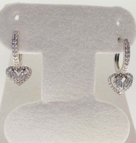 14 Karat Yellow Gold Cubic Zircon Huggi Hoop Earrings KC1583