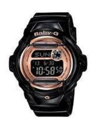 Baby G-Shock Black Digital Sport Watch #BG169G-1