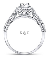 14 KT Princess Cut 1 CTTW Diamond Wedding Ring