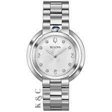 Bulova Rubaiyat Diamond Stainless Steel Women's Watch Model: 96P184
