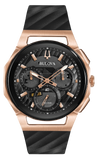 Men's CURV Chronograph Black Dial & Rose Gold Watch Model: 98A185