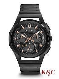Brand New CURV Men's Bulova Watch Dark Grey 98A207