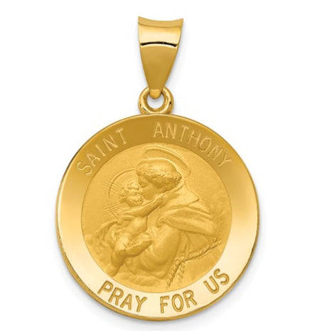 14k Saint Anthony Medal Pendant KC146