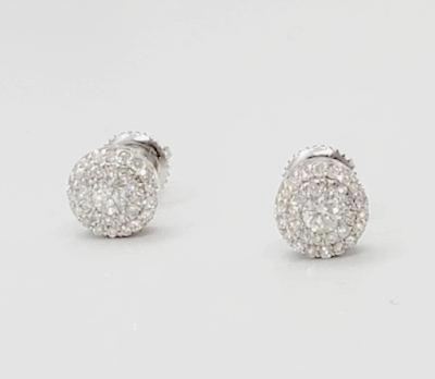Diamond Halo Stud Earrings 0.60 CT KCS7183