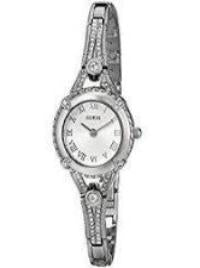 Guess Women's Vintage Inspired Stainless Steel Petite Silver Tone Watch #U0135L1