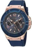 Guess Men's Stainless Steel Rose Gold Tone Silicon Casual Watch #U0247G3